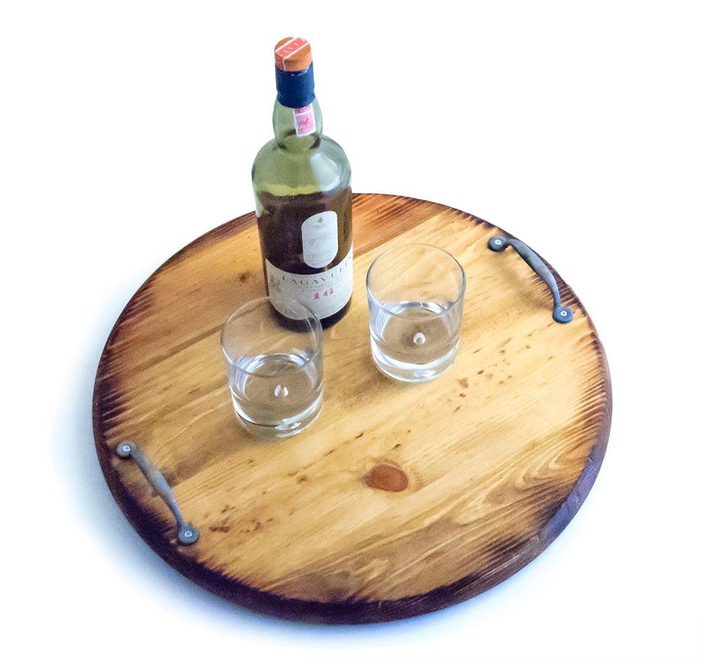 Serving Tray Styled Like Barrel End - O\'Floinn Decor