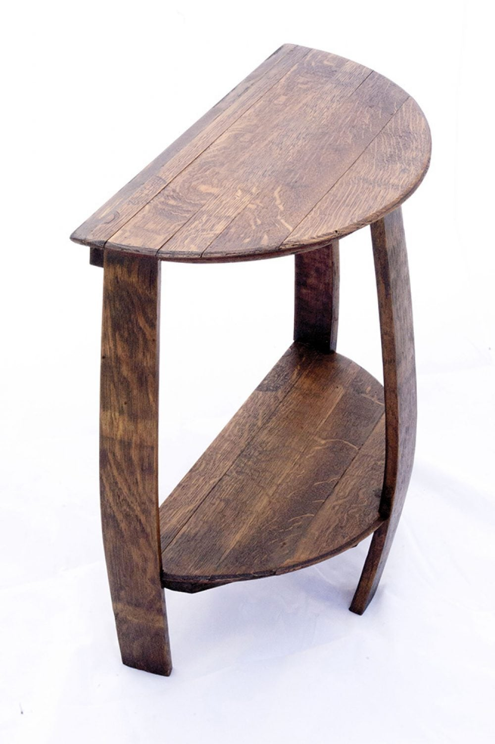 Pleasing Wine Barrel Half Round End Table Machost Co Dining Chair Design Ideas Machostcouk